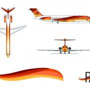 Rotulación de flota aerolínea