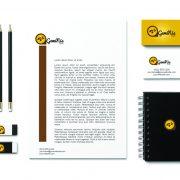 Diseño papelería empresa tecnológica